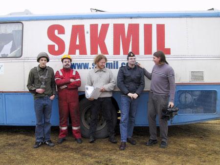 SAKMIL-bussen på filminnspilling (2001)