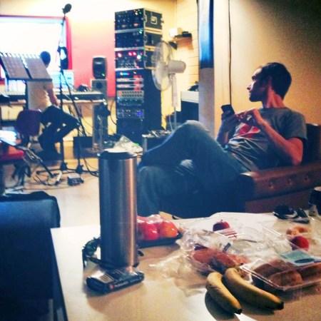 Banjo-Erlend i studio